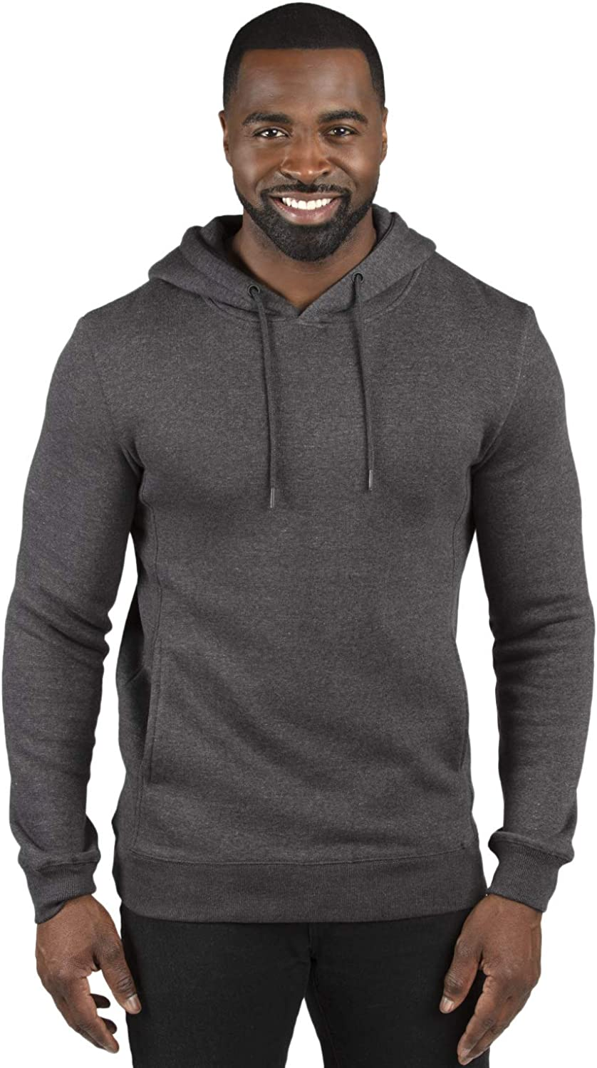 Threadfast Apparel Unisex Fleece Pullover Hooded Charcoal Heather XXX-Large