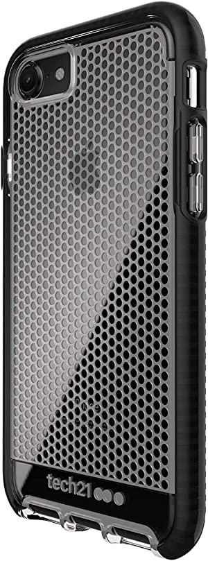 tech21 Evo Mesh Phone Case for Apple iPhone 6/7/8/ and SE (2020) - Clear/Black (T21-5403)