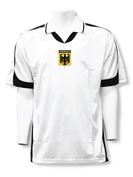 the best attitude 554f2 24851 Germany Soccer Jersey with collar featuring iconic German badge logo