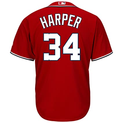 7a7a9ae8b Image Unavailable. Image not available for. Color  Majestic Athletic Washington  Nationals Bryce Harper 2015 Cool Base ...