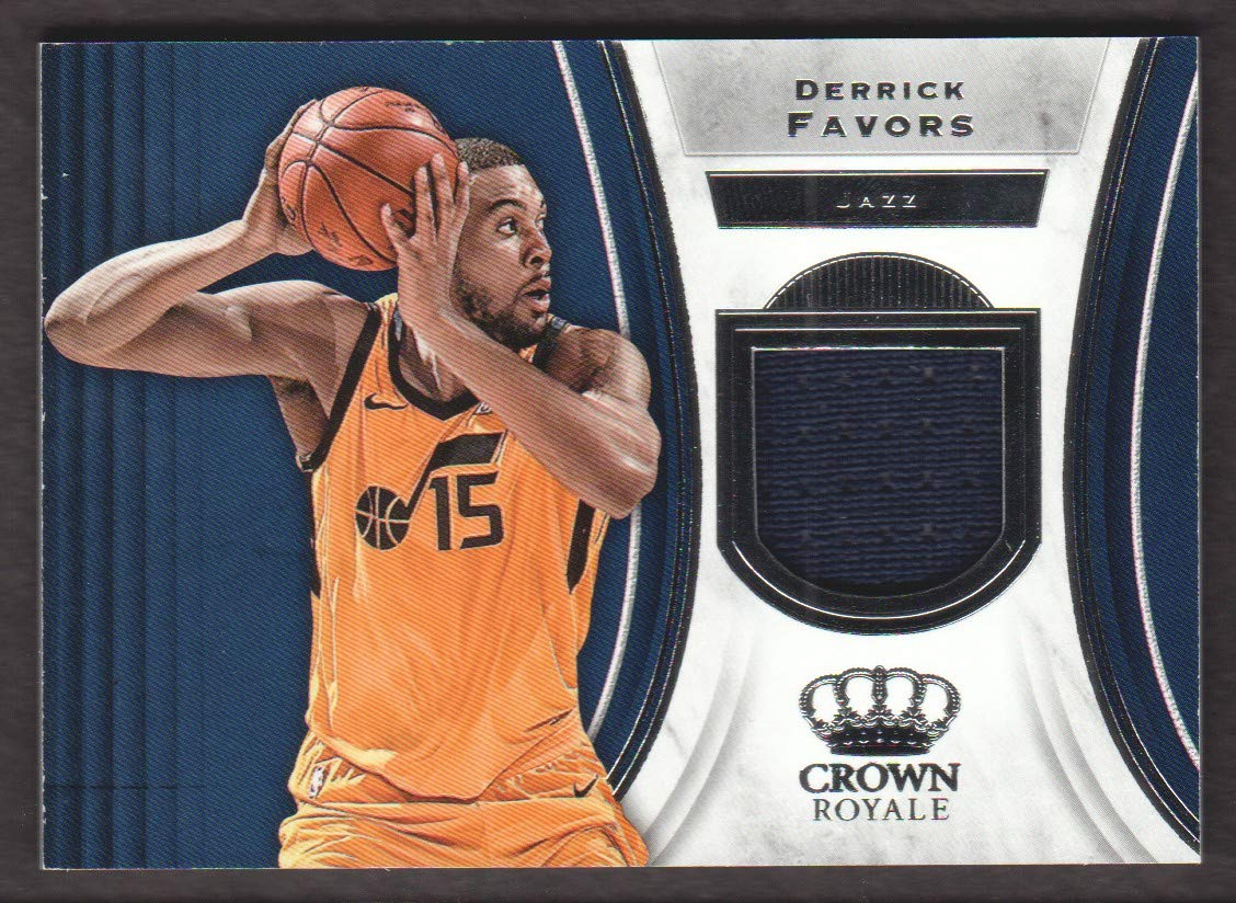 new style 5a22e cf1d9 2018-19 Crown Royale Basketball Jersey #J-DF Derrick Favors ...