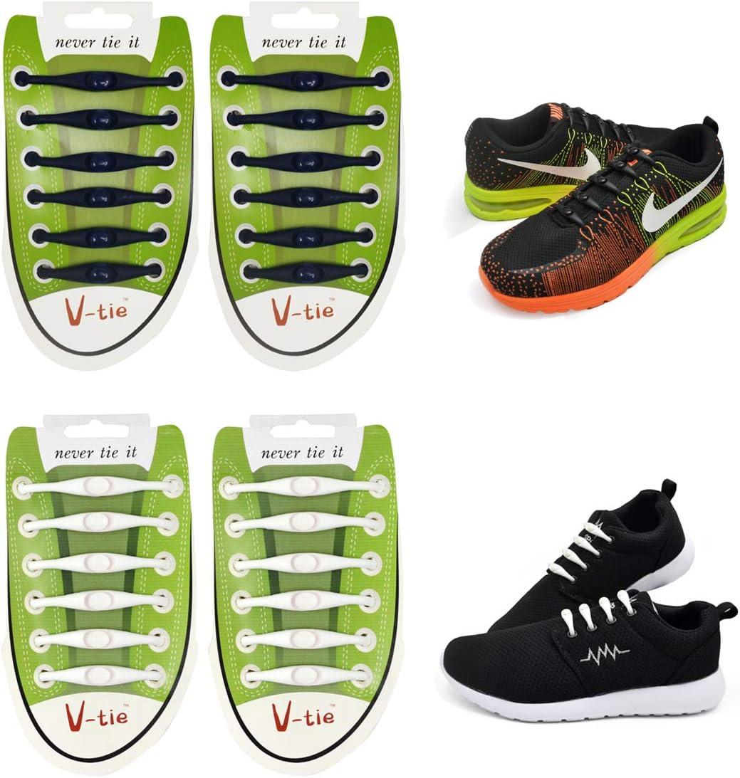 Shengchang 2 Pares de Cordones de Zapatos para niños y Adultos, Impermeables, de Silicona, elásticos, para Atletismo, Zapatos, Zapatillas, Zapatillas para Zapatillas de monopatín, Zapatos Casuales: Amazon.es: Deportes y aire libre