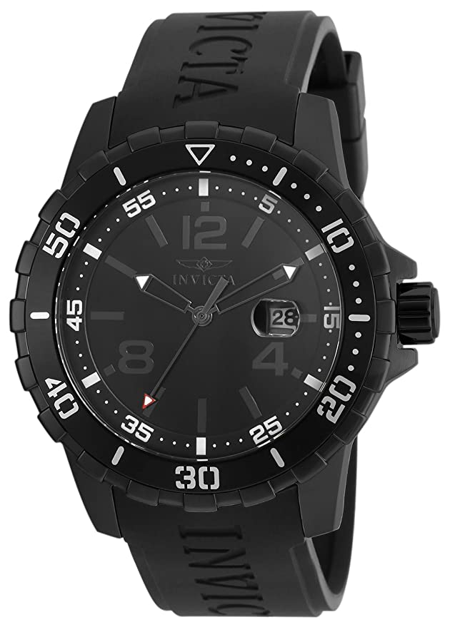 Amazon.com: Invicta Mens Specialty Stainless Steel Quartz Watch with Polyurethane Strap, Black, 22 (Model: 21549: Watches
