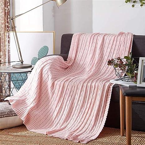 LHZTZKA Frazadas de Punto, esponjosas Mantas de Lanzamiento, 2 tamaños y 12 Colores, adecuadas para su hogar, sofá, bebé, automóvil, Hotel, Viajes, ...