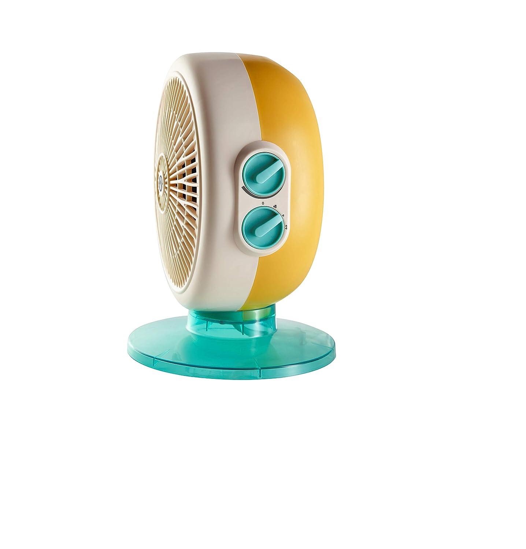 Olimpia Splendid 99418 Caldo Circle 20 A Termoventilatore Design Italiano con Protezione IP21 2000 W Azzurro
