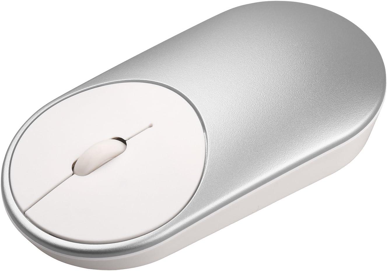 SODIAL Raton inalambrico portatil en De Mi Bluetooth optico 4.0 RF de 2,4 GHz de doble modo de conectar mi oficina Raton