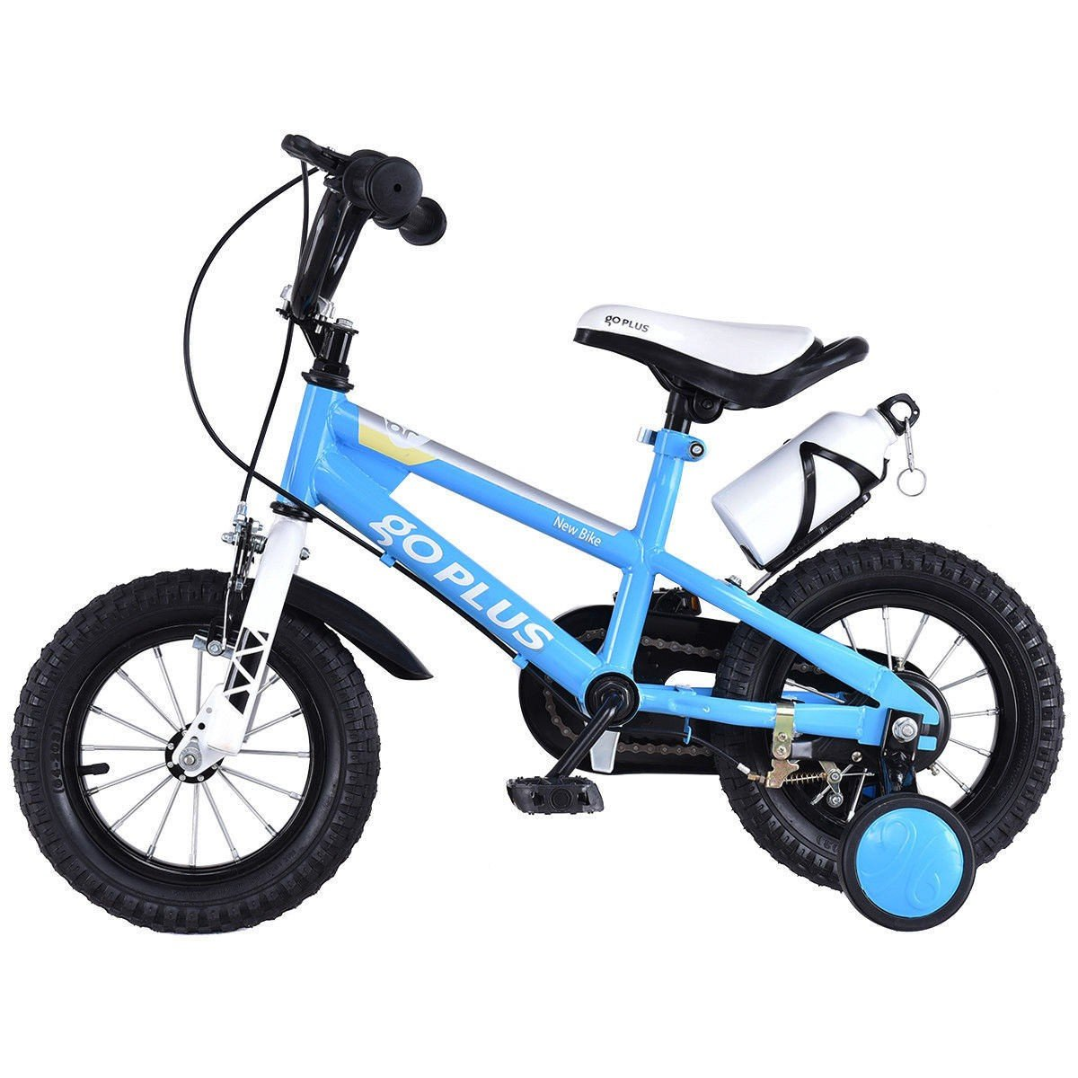 MD Group Kids Bicycle w/ Training Wheels Freestyle 16'' Blue Adjustable Children Xmas Gift by MD Group (Image #2)