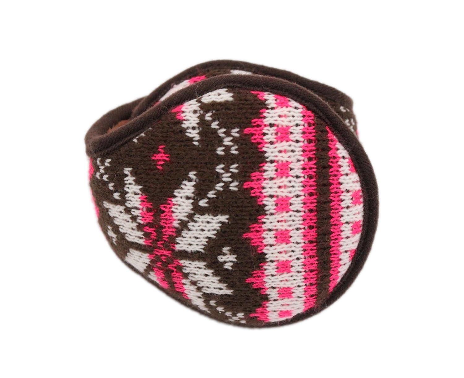 Iuway Unisex Knitted Foldable EarMuffs Fleece Lined Warm Winter Outdoor EarMuffs