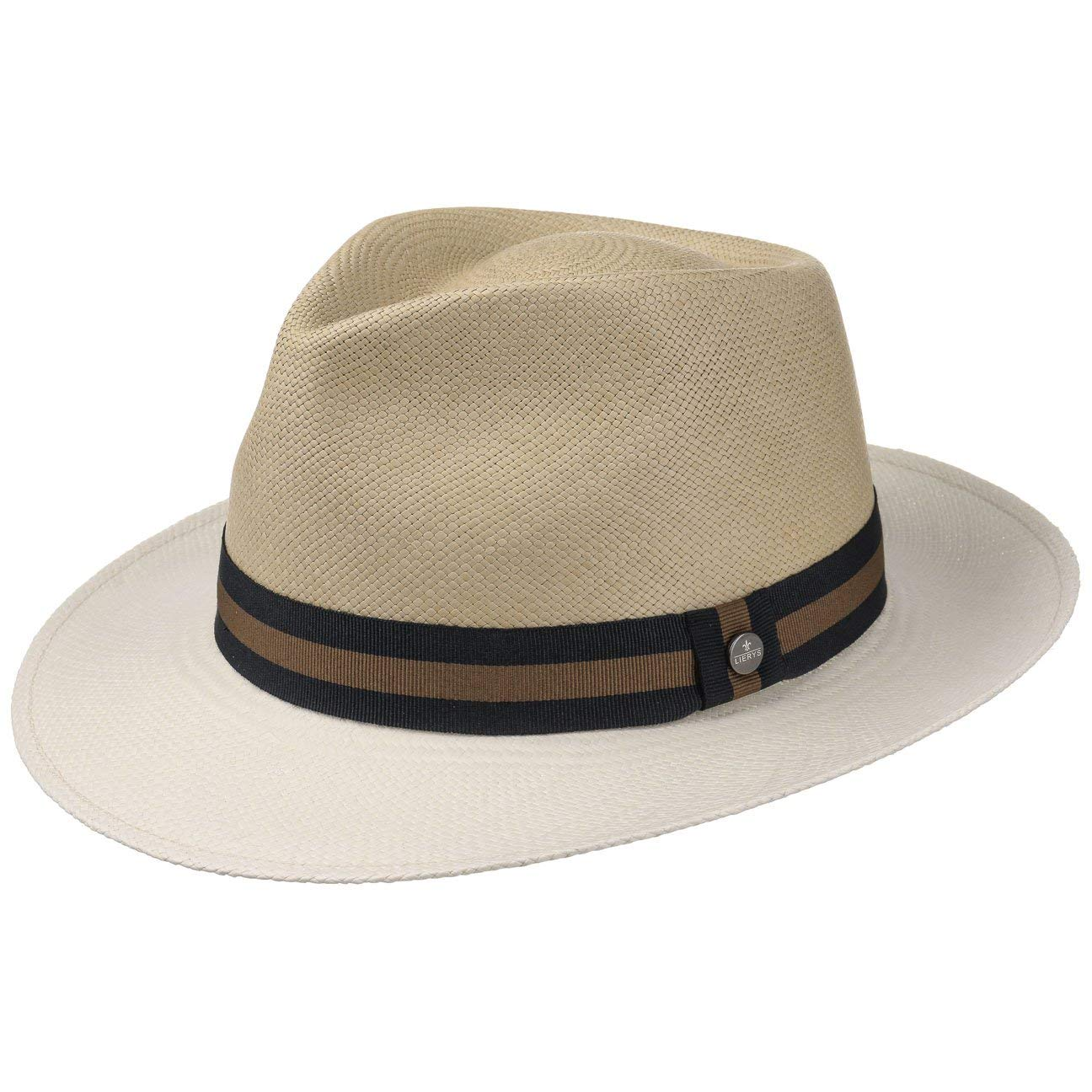 Made in Ecuador mit Ripsband Fr/ühling-Sommer Lierys Twotone Panama Bogarthut Strohhut Panamastrohhut Sommerhut Sonnenhut Standhut Hut Herren