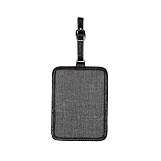 Thirty One Carry Me Away Luggage Tag in Charcoal Crosshatch - No Monogram - 9069