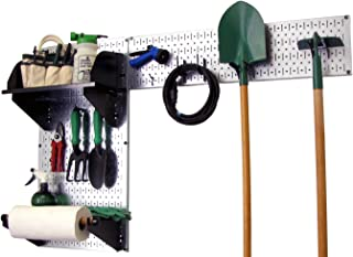 product image for Wall Control Pegboard Garden Supplies Storage and Organization Garden Tool Organizer Kit with Metallic Pegboard and Black Accessories