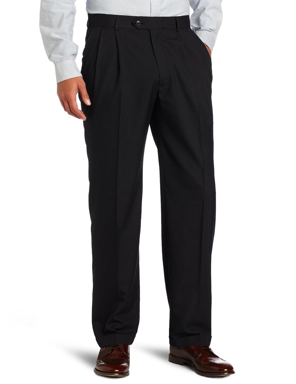 Haggar Men's Stripe Pleat Front Suit Separate Pant