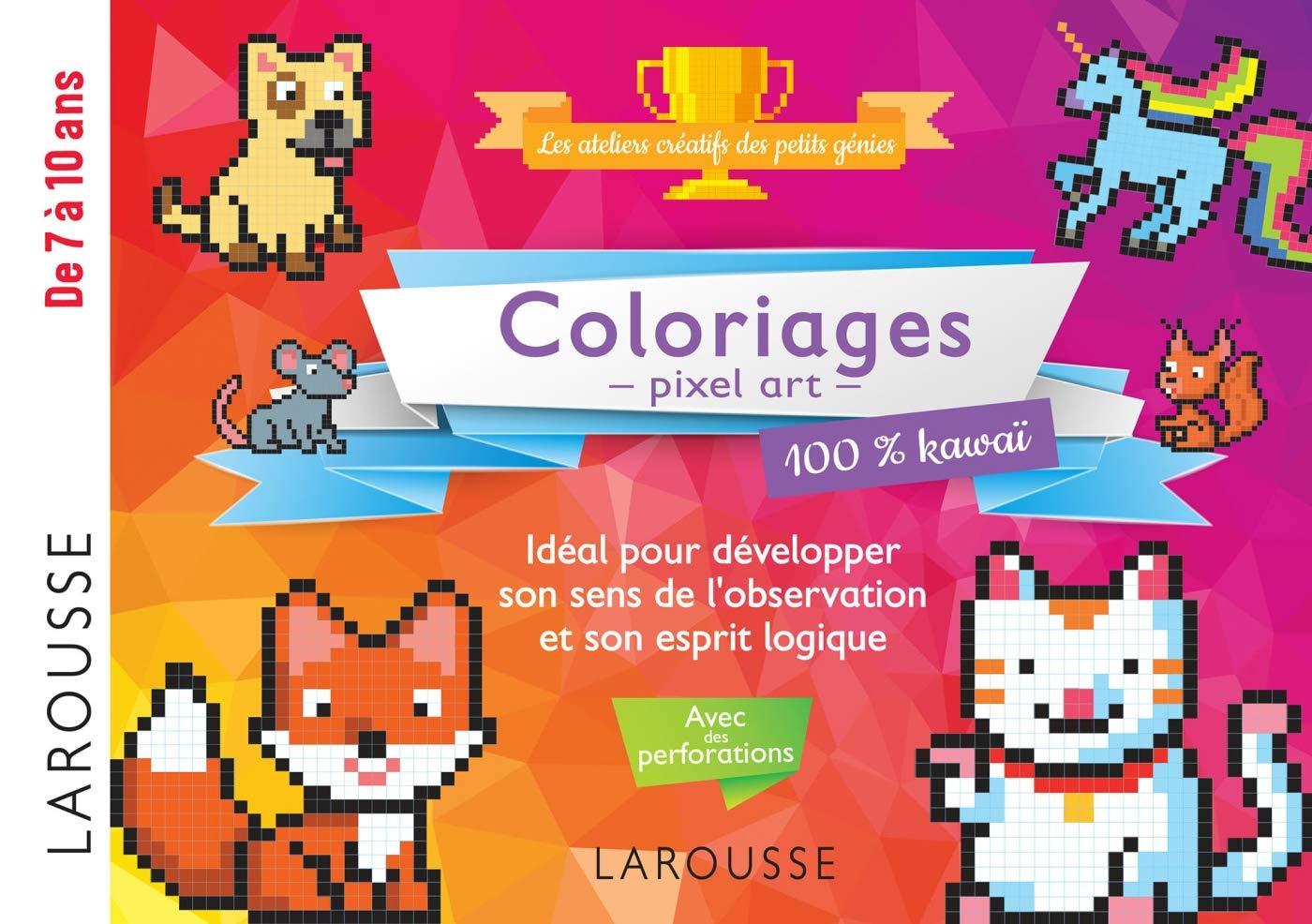Coloriages Pixel Art 100 Kawaï 9782035974914 Amazoncom