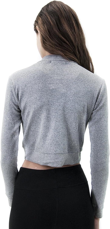 Satva Organic Cotton Long Sleeve High Neck Cleo Crop Top