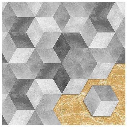 APSOONSELL Piastrelle Adesive Muro Esagonale-Shaped PVC geometrico ...