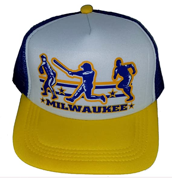 6c1a949d9cefd Image Unavailable. Image not available for. Color  Milwaukee Baseball Mesh  Snapback Trucker Hat Cap