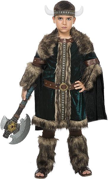Disfraz Vikingo Green (10-12 AÑOS): Amazon.es: Juguetes y juegos