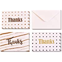 Thank You Cards in Box of 24 with Envelopes, 3 Elegant and Attractive Designs, 8 Cards of Each Design, 15cm by 10cm…