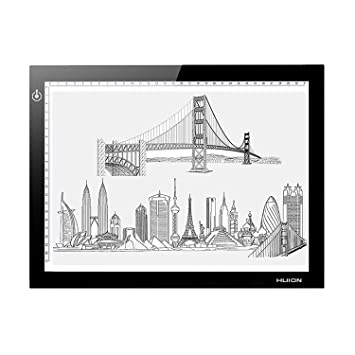 Huion 17.7 (Diagonal Length) 5mm Ultra Thin LED Drawing Tracing Stencil Board Table light PAD Tattoo Pad Light Box L4S with Kenting Cleaning Cloth Photo Studio & Lighting at amazon