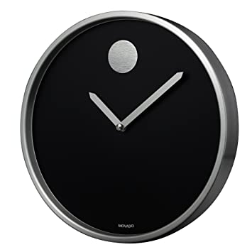 Image result for Movado Black Aluminum Circle Crystal Clock