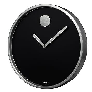Image result for Movado Black Aluminum Circle Crystal Clock