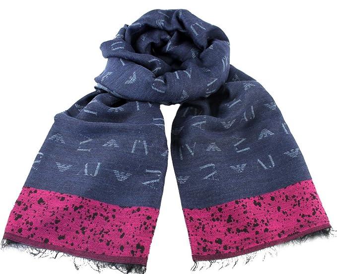 a basso prezzo più amato autentico Armani Jeans Sciarpa Donna Bicolor con Loghi e Pois 9241637A102 BL ...