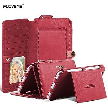 8938439c36 Portefeuille Femme Homme Coque Samsung Galaxy Note 5 Galaxy S6 Edge Plus,  FLOVEME Porte-