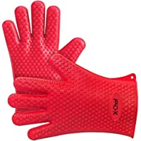 X-Chef Silicone Cooking Gloves (Pink)