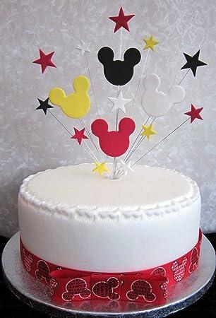 Decoration Pour Gateau D Anniversaire Mickey Mouse Rouge Blanc