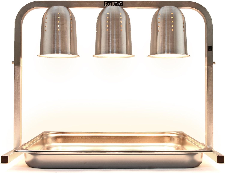 Riscalda Cibo con 3 Lampade per Cucine Commerciali Ristoranti e Catering Mense