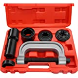 AURELIO TECH 10PCs Ball Joint Press Kit & U Joint Removal Tool with 4x4 Adapters, for Most 2WD and 4WD Cars and Light…