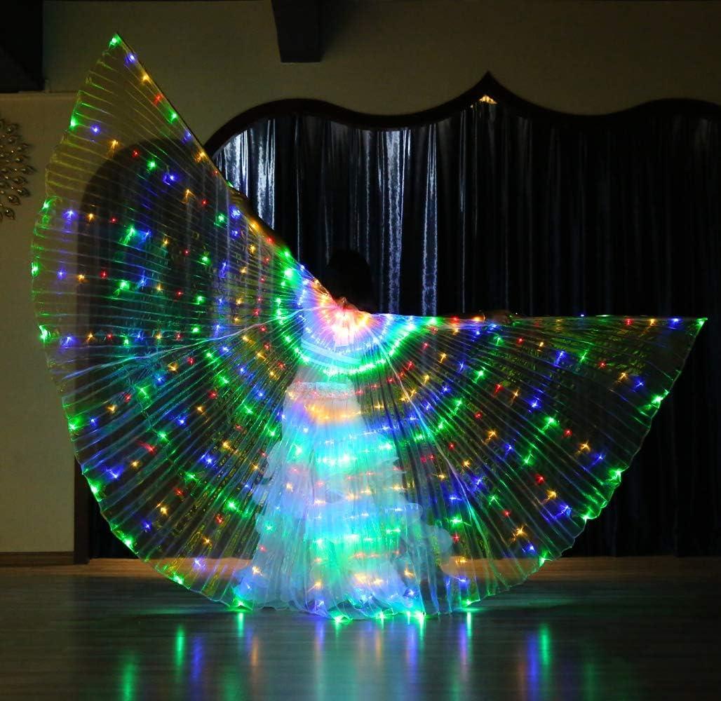 Jolie Alas de Danza del Vientre + Palos ISIS Wings para Mujeres ...