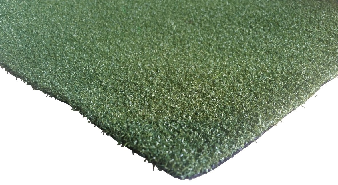 PZG Premium Artificial Grass Rug w/ Drainage Holes & Rubber Backing | 2-Tone Realistic Synthetic Grass Mat | Heavy & Soft Pet Turf | Lead-Free Fake Grass for Dogs or Outdoor Decor | Size: 24' x 12'
