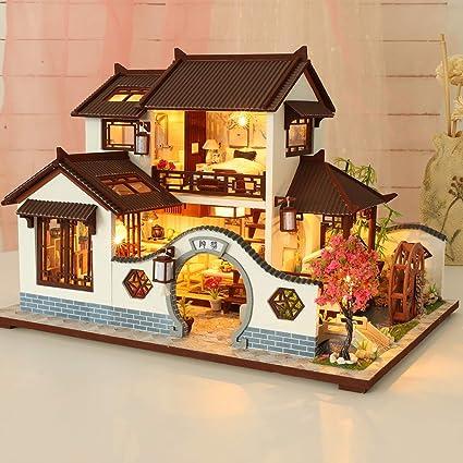 Dollhouse Miniature 1:12 Monopoly Game 1950s retro Dollhouse boy girl game toy