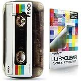 CaseiLike ® FE90 Kassette Tape Retro Vintage Style, Snap-on wieder Gehäuse für Samsung Galaxy S3 Mini i8190 mit Displayschutzfolie 1pcs.