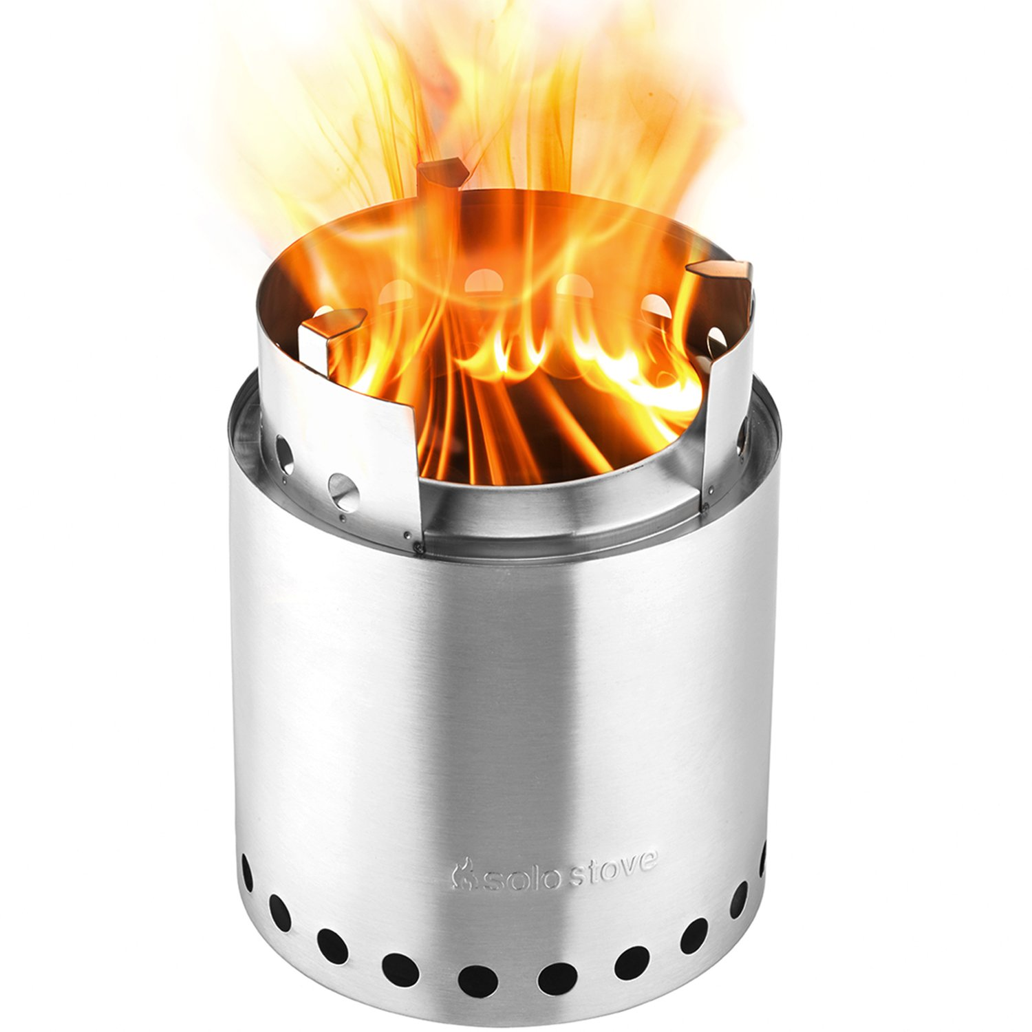Solo Stove Campfire - 4+ Person Compact Wood Burning Camp Stove for Backpacking, Camping, Survival. Burns Twigs - NO Batteries or Liquid Fuel Gas Canister Required. by Solo Stove (Image #2)