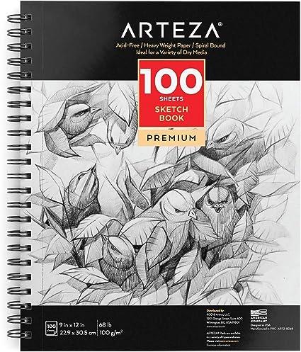 crayon 12 x 12 cm Encre Sakura Sketch Remarque Livre 80 feuilles de papier à dessin pour Stylo