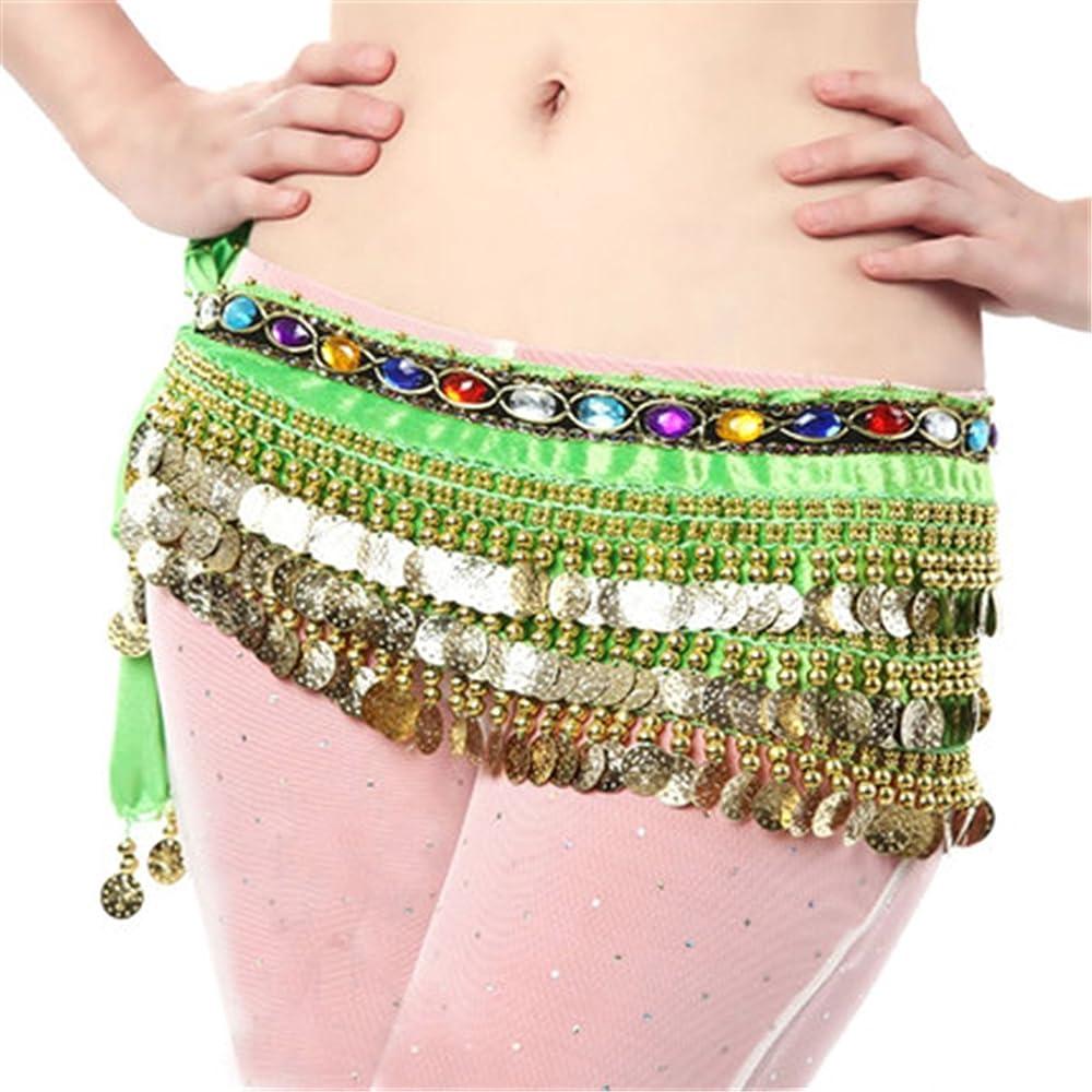 Danza del Vientre cadera bufanda falda 228 disfraz de monedas de ...