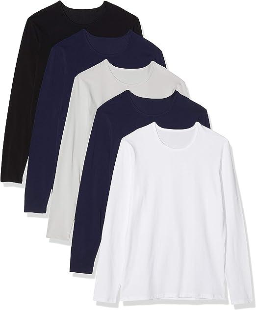 Pack de 5 Maglev Essentials Camiseta de Manga Larga Hombre