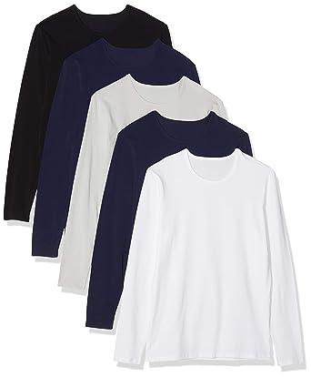 Essentials T Shirt 5Amazon Maglev Lunga Manica it A UomoPacco Da 7fvYb6gy