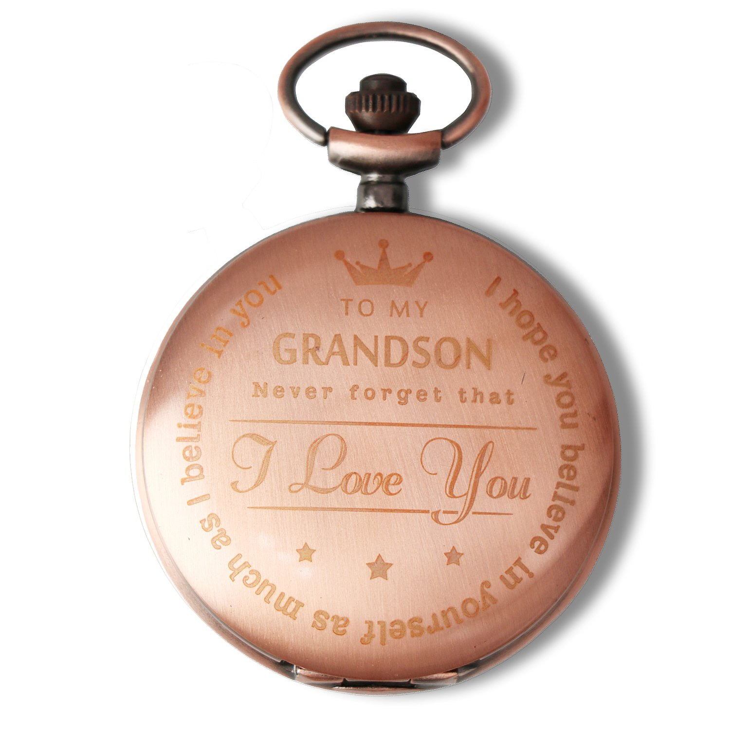 Mainbed Engraved Pocket watch,to grandson Gifts From a Grandpa, GrandMa by Mainbed