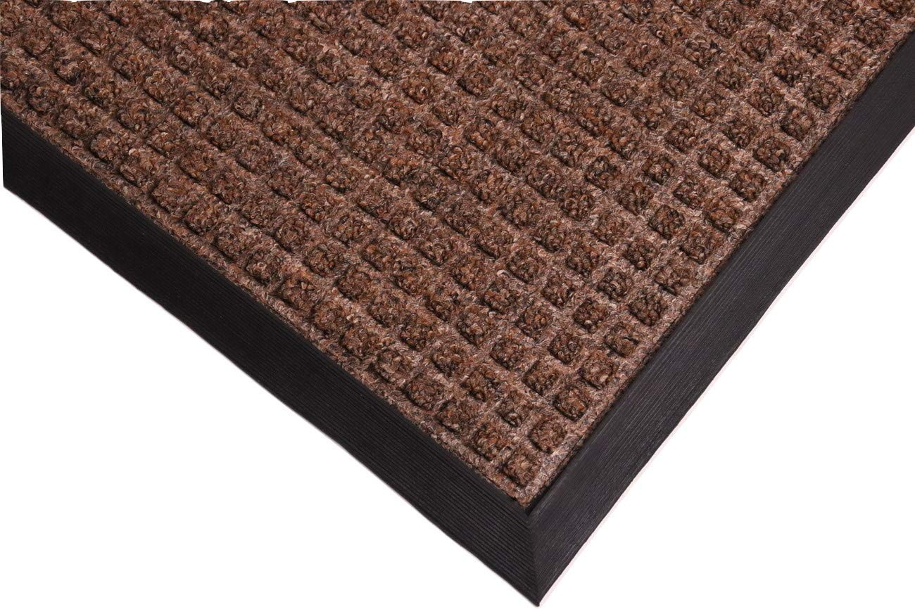 Rhino Mats TNC-4872BR Town N Country Entrance Mat 4 x 6 , Brown, Rubber, 1 2 Thickness