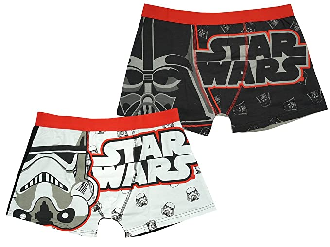 Hombre Paquete de 2 Star Wars Darth Vader Bañador FIT Calzoncillos Bóxer calzoncillos tallas S M L XL