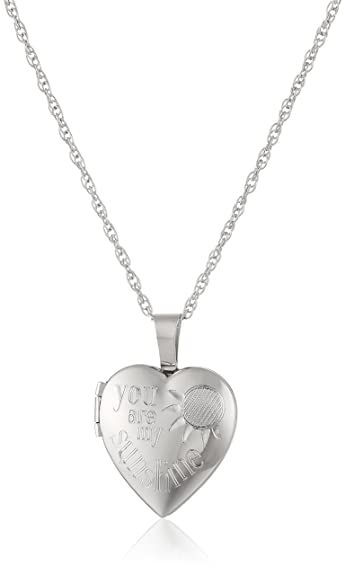 e00a8630acfbc7 Amazon.com: Ladies' Sterling Silver Heart Pendant with