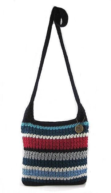 The Sak Riviera Crochet Crossbody Handbag Marina Stripe Handbags