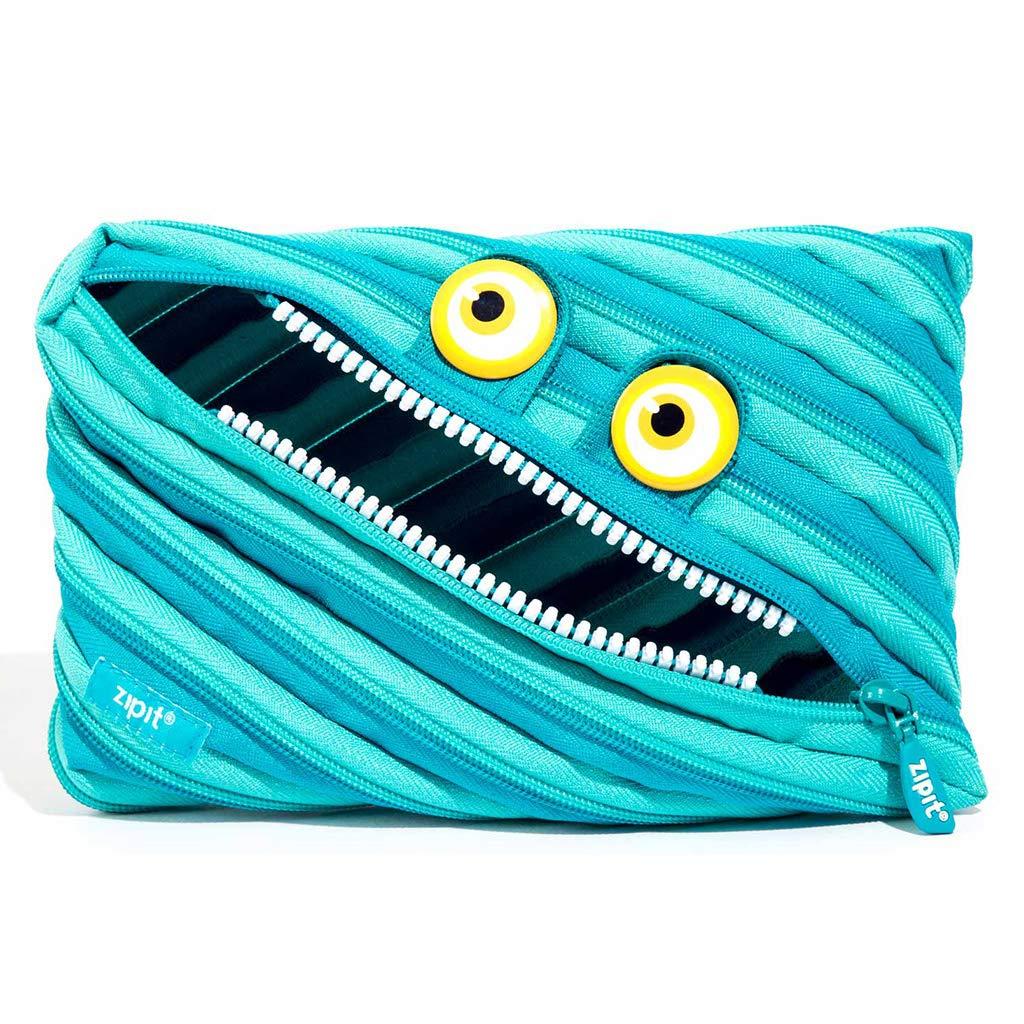 ZIPIT Wildlings Big Pencil Case/Cosmetic Makeup Bag, Blue