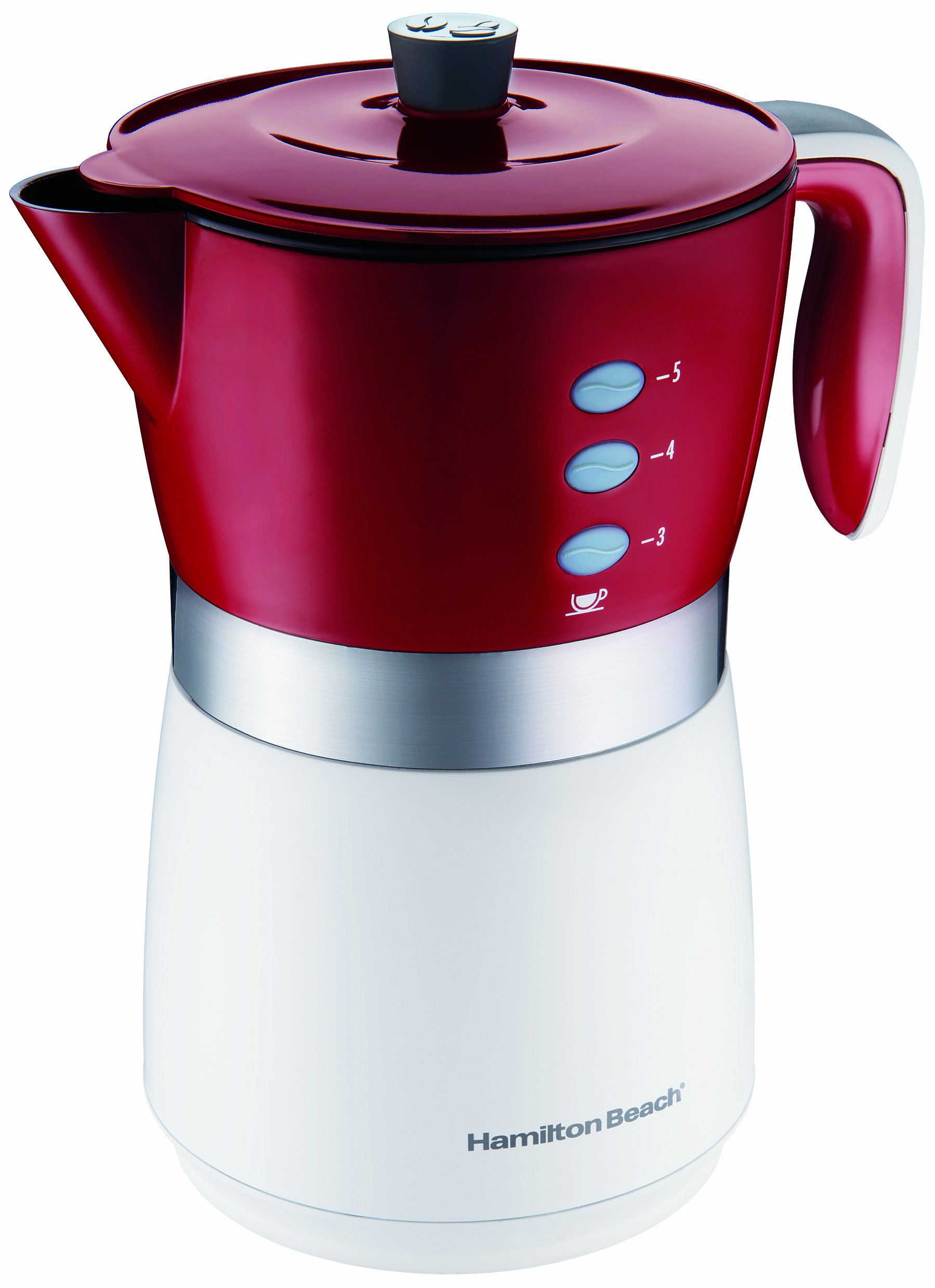 Hamilton Beach 43700 5-Cup Personal Coffee Brewer, Red by Hamilton Beach