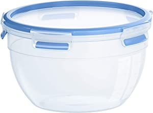 Emsa Clip & Close Food storage container, rund, Transparent/Blue