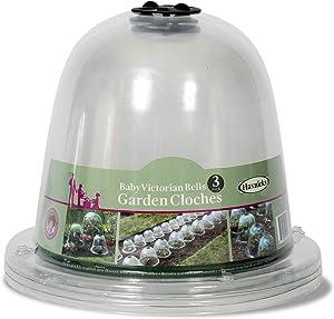 Tierra Garden 50-1110 Haxnicks Victorian Bell Plant Protector, Baby, 3-Pack