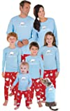 PajamaGram Cotton Chill Out Matching Family Pajamas, Red and Blue